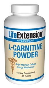 L-carnitine helps maintain cellular energy metabolism.