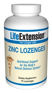 LifeExtension- Zinc Lozenges a unique source of Zinc, a mineral that stimulates the activity of approximately 100 enzymes, which are substances that promote biochemical reactions in your body. Strengthen your immune system..