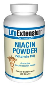 Niacin Powder (Vitamin B3)- Niacin is the only B vitamin that can be synthesized in the body from the amino acid tryptophan. In its coenzyme forms, niacin is crucial to energy transfer reactions,.