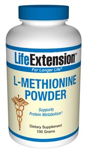 Supplemental L-methionine is especially recommended for people on a vegetarian diet. Supports Protein Metabolism.