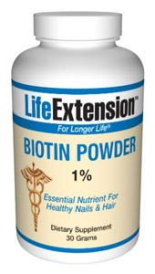 Biotin Powder 1%-  Biotin is an unnumbered member of the B-complex family, normally only required in minute amounts. Biotin, a water-soluble vitamin, is used as co-factor of enzymes involved in fatty acid metabolism, gluco-neogenesis, and.