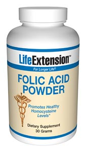 Folic Acid Powder- Folic acid (folate) is a member of the B-complex family. It is found in abundance in leafy green vegetables, but is often deficient in the standard American diet..