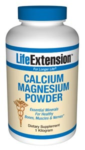 Nutritional Supplements, Antiaging, Health and Nutrition- LifeExtension- Calcium Magnesium Powder is a good source of elemental calcium and magnesium for healthy people. It is best used as a buffering agent, added to acidic vitamins in solution to neutralize pH levels..