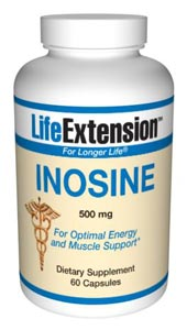 Inosine 500 mg- belongs to a chemical family known as purine nucleotides. It penetrates cell walls of both cardiac and skeletal muscle and once inside promotes the manufacture of ATP.