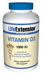 Vitamin D3 1000 IU-  Vitamin D is synthesized in the body from sunlight. But, due to the winter season, weather conditions, and sunscreen blockers, the body's ability to produce optimal vitamin D levels.