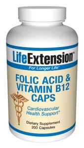 Folic Acid & Vitamin B12-  Folic acid (folate) is a member of the B-complex family. It is found in abundance in leafy green vegetables, but is often deficient in the standard American diet..