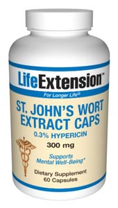 LifeExtension- St. John's Wort Extract Caps is a weak inhibitor of monoamine oxidase (MAO), which may destroy dopamine in the brain and lead to low spirits. .