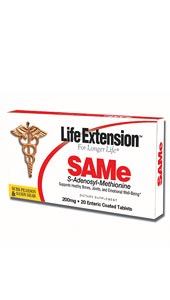 LifeExtension- SAMe (S-adenosyl-methionine) 200 mg is an amino acid derivative normally synthesized in the body. .