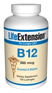 B12 500 mcg- Vitamin B12 is present in foods of animal origin, including dairy products and eggs. Thus, vegetarians are more susceptible to a dietary deficiency of this important nutrient. .