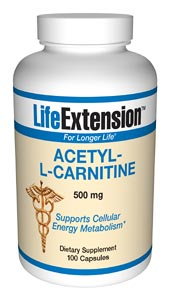 Acetyl-l-carnitine is an amino acid shown to lower the increased oxidative stress often associated with aging..