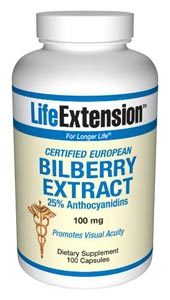 Certified European Bilberry Extract, 36% Anthocyanins, Promoting Visual Acuity..