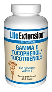 Gamma E Tocopherol/Tocotrienols- According to the Proceedings of the National Academy of Sciences, alpha tocopherol (regular vitamin E) displaces critically important gamma tocopherol in the cells. While alpha tocopherol inhibits free radical production,.
