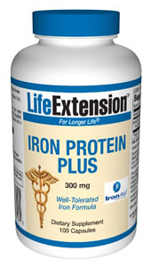 LifeExtension- Iron Protein Plus 300 mg- Iron is an integral part of many proteins and enzymes that maintain good health. In humans, iron is an essential component of proteins involved in oxygen transport. .