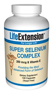 LifeExtension- Super Selenium Complex & Vitamin E - As an essential co-factor of glutathione peroxidase, selenium is an important antioxidant.  Selenium is incorporated into proteins to make selenoproteins, which are important antioxidant enzymes..