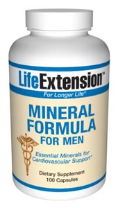 LifeExtension- Mineral Formula for Men- Calcium is the most popular mineral supplement.