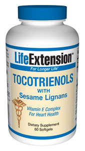 Tocotrienols with Sesame Lignans- Tocotrienols have shown superior action in maintaining arterial health..