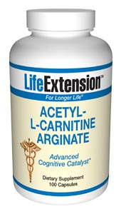 Acetyl-L-carnitine arginate is a patented form of carnitine. Studies show that it stimulates the growth of neurites in the brain by 19.5%, which is almost four times better than acetyl-L-carnitine..