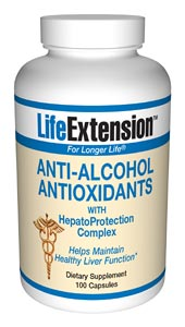 Anti-Alcohol Antioxidants with HepatoProtection Complex- Taking the proper supplements before and after drinking can substantially protect liver cells from the free-radical damaging effects of alcohol consumption..