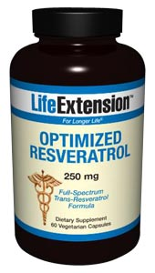 Optimized Resveratrol 250 mg- published scientific literature indicates that resveratrol may be the most effective plant extract for maintaining optimal health and promoting longevity..