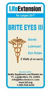 Each box of Brite Eyes III contains two individual vials that provide five milliliters each. This type of packaging in two individual vials reduces the risk of bacterial contamination. And having two vials also makes it convenient for consumers to keep Brite Eyes III readily accessible at home, the office, ones purse, pocket, or other places where access to a soothing eye drop is needed..