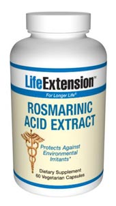 Rosmarinic Acid Extract- The herb Rosemary has a number of components found to be beneficial. Rosmarinic acid is a plant polyphenol derived from rosemary leaf. It is thought to have a number of health-promoting benefits..