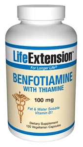Benfotiamine, Thiamine, Vitamin B1, 100 mg, supports healthy blood sugar metabolism and helps protect the body tissues against advanced glycation and oxidative stress..