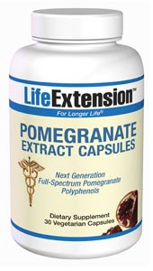 Pomegranate Extract Capsules - In ancient Greek mythology, the pomegranate represents life and regeneration.  Its use as an herb dates back more than 3,000 years. But contemporary science has rediscovered the pomegranate's surprising array of benefits..