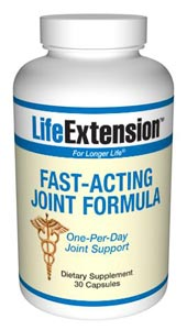 LifeExtension Fast-Acting Joint Formula - People who suffer from joint discomfort often take pain relief products. Regrettably, those can pose health risks and accelerate cartilage loss in the joints. May provide added benefit when taken with ArthroMax or other joint support formulas..