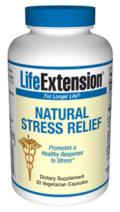 LifeExtension- Natural Stress Relief - L-theanine produces calming effects in the brain in ways that have been compared to meditation, massage, and aromatherapy. L-theanine induces relaxation without causing drowsiness..