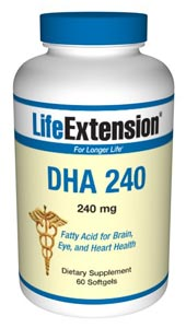 Life Extensions DHA softgels complement Life Extensions Super Omega-3 fish oil softgels to provide options for those who desire a higher DHA:EPA ratio and to provide additional support for brain health, eye health, mood, and developmental needs. Life Extensions DHA exceeds current Council for Responsible Nutrition proposed pharmaceutical-grade standards. The small-sized DHA softgel caps are more desirable for some people..