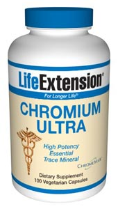 LifeExtension- Chromium Ultra 100 vegetarian capsules - Chromium, the metallic element once believed to be toxic, is now generally recognized to play an important role in maintaining healthy blood sugar levels in those within normal levels when used as.