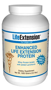 LifeExtension-  Enhanced Life Extension Protein (Vanilla)- Scientists have begun to investigate the ability of certain biological components of whey protein to enhance immunity..