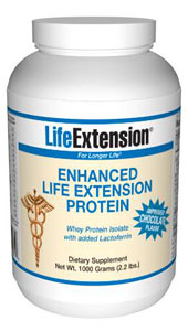 LifeExtension- Nutritional Supplements, Antiaging, Health and Nutrition-Enhanced Life Extension Protein (Chocolate) - Scientists have begun to investigate the ability of certain biological components of whey protein to enhance immunity..