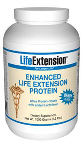 Enhanced Life Extension Protein (Berry) 1000 grams (2.2 lbs) - Scientists have begun to investigate the ability of certain biological components of whey protein to enhance immunity..