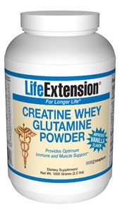 Creatine Whey Glutamine Powder (Vanilla)- Whey protein isolate can build lean muscle and prevent protein breakdown. Recently studies suggested whey protein isolate as a useful supplement for muscle recovery and immune regulation.