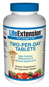 Two-Per-Day Tablets - Adequate intake of vitamins and minerals is key to optimal health..