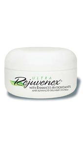 Ultra Rejuvenex- Ultra Rejuvenex is an extraordinary youth-promoting face cream that contains green and white tea extracts, along with many other beneficial nutrients for the skin. Scientific studies reveal that tea extracts promote healthy-looking skin tone.>.