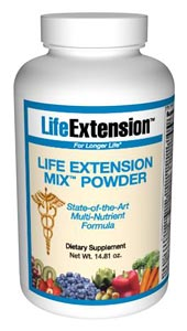 Life Extension Mix Powder - Published scientific studies document that people who eat the most fruits and vegetables have much lower incidences of health problems. Few people, however, consistently eat enough plant foods to protect against disease.</p>.