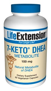 Natural Metabolite of DHEA, Life Extension 7-Keto DHEA may help in supporting successful weight management by increasing the resting metabolic rate in overweight adults..