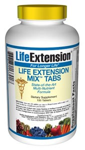Life Extension Mix Tabs  Consumers take dietary supplements to obtain concentrated doses of some of the beneficial nutrients (such as folic acid) that are found in fruits and vegetables..