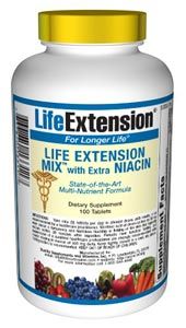 Life Extension Mix with Extra Niacin - Consumers take dietary supplements to obtain concentrated doses of some of the beneficial nutrients (such as folic acid) that are found in fruits and vegetables..