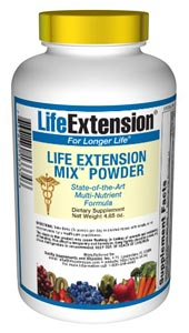 Life Extension Mix Powder  Consumers take dietary supplements to obtain concentrated doses of some of the beneficial nutrients (such as folic acid) that are found in fruits and vegetables..
