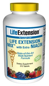 Life Extension Mix with Extra Niacin without Copper- Consumers take dietary supplements to obtain concentrated doses of some of the beneficial nutrients (such as folic acid) that are found in fruits and vegetables..