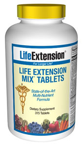 Life Extension Mix Consumers take dietary supplements to obtain concentrated doses of some of the beneficial nutrients (such as folic acid) that are found in fruits and vegetables..