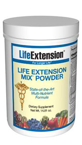 Life Extension Mix Powder  -Consumers take dietary supplements to obtain concentrated doses of some of the beneficial nutrients (such as folic acid) that are found in fruits and vegetables..