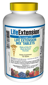 Life Extension Mix Tabs without Copper - Consumers take dietary supplements to obtain concentrated doses of some of the beneficial nutrients (such as folic acid) that are found in fruits and vegetables..