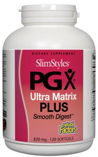 SlimStyles PGX Ultra Matrix Plus - Promotes satiety, reduces food cravings and normalizes appetite and metabolism while Smooth Digest supports digestion..