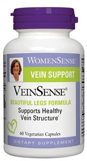 VeinSense contains diosmin, a citrus flavonoid, in a micronized form for better absorption and utilization along with other phytonutrients to support healthy vein structure and integrity..