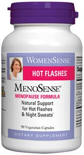 MenoSense is an all-natural formula designed to provide support for symptoms associated with menopause, such as hot flashes and night sweats..