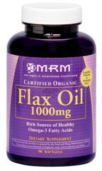 High quality Omega-3's through MRM's Organic Flax Oil is an amazing source of essential fatty acids..